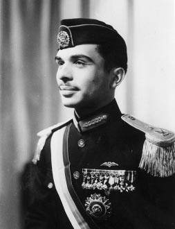 King Hussein in uniform in 1953. Source: King Hussein I Photo Bank.