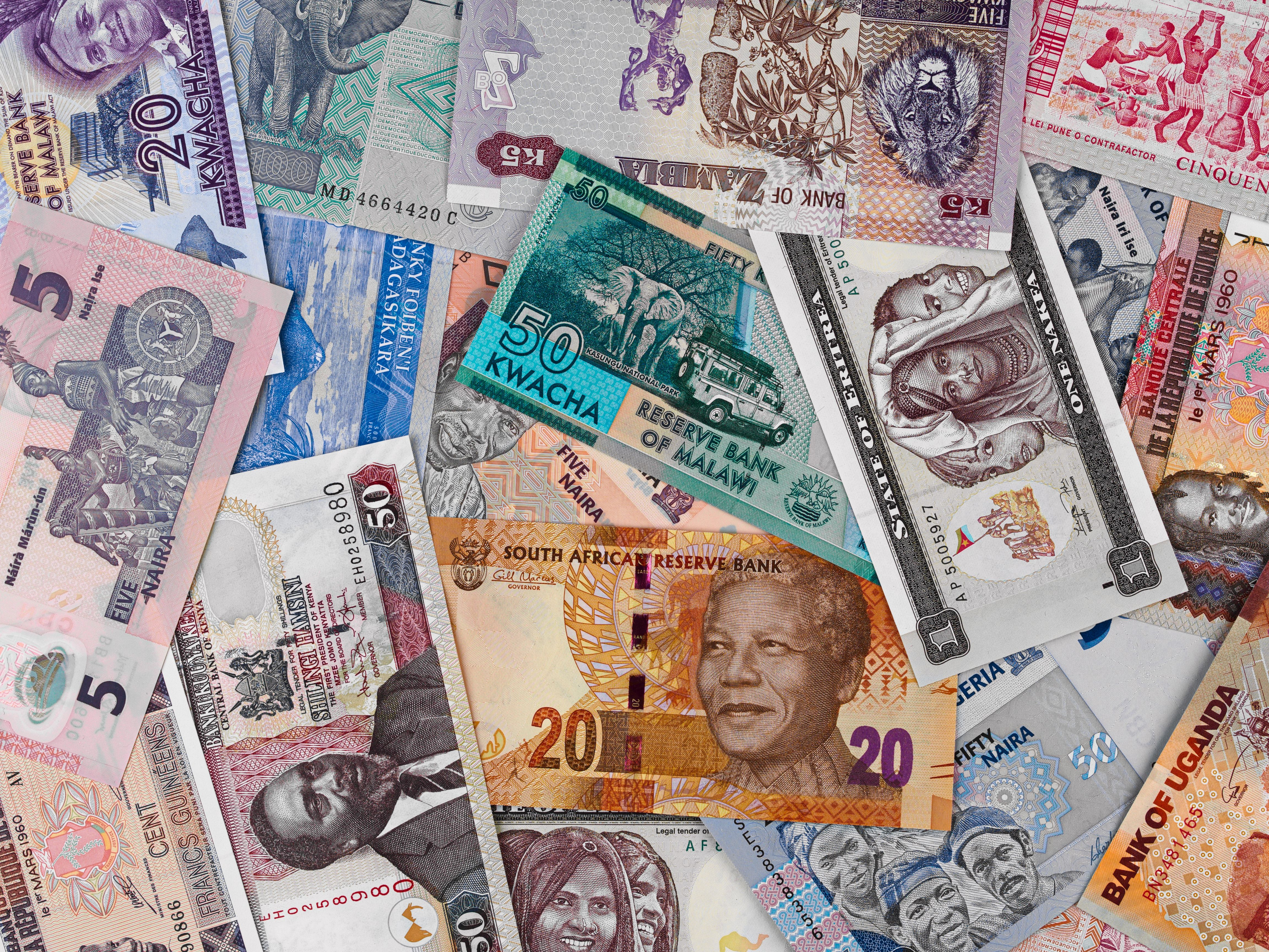 Various African banknotes