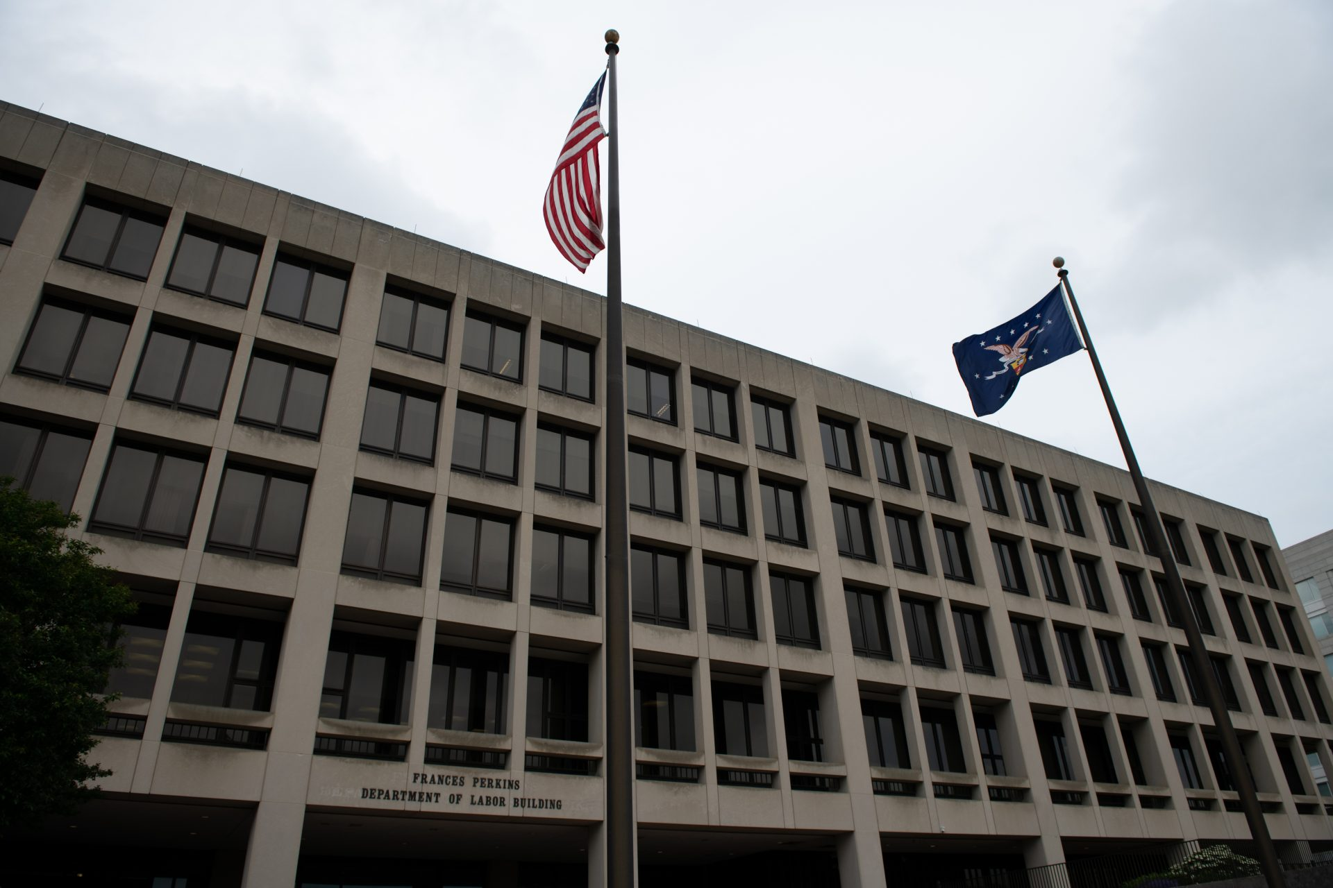 A general view of the U.S. Department of Labor in Washington, D.C., on May 28, 2020 amid the Coronavirus pandemic. This week marked 100,000 confirmed COVID-19 deaths in the United States, as outbreaks accelerated in more than a dozen states and many countries across the global south according to reports. (Graeme Sloan/Sipa USA)No Use UK. No Use Germany.