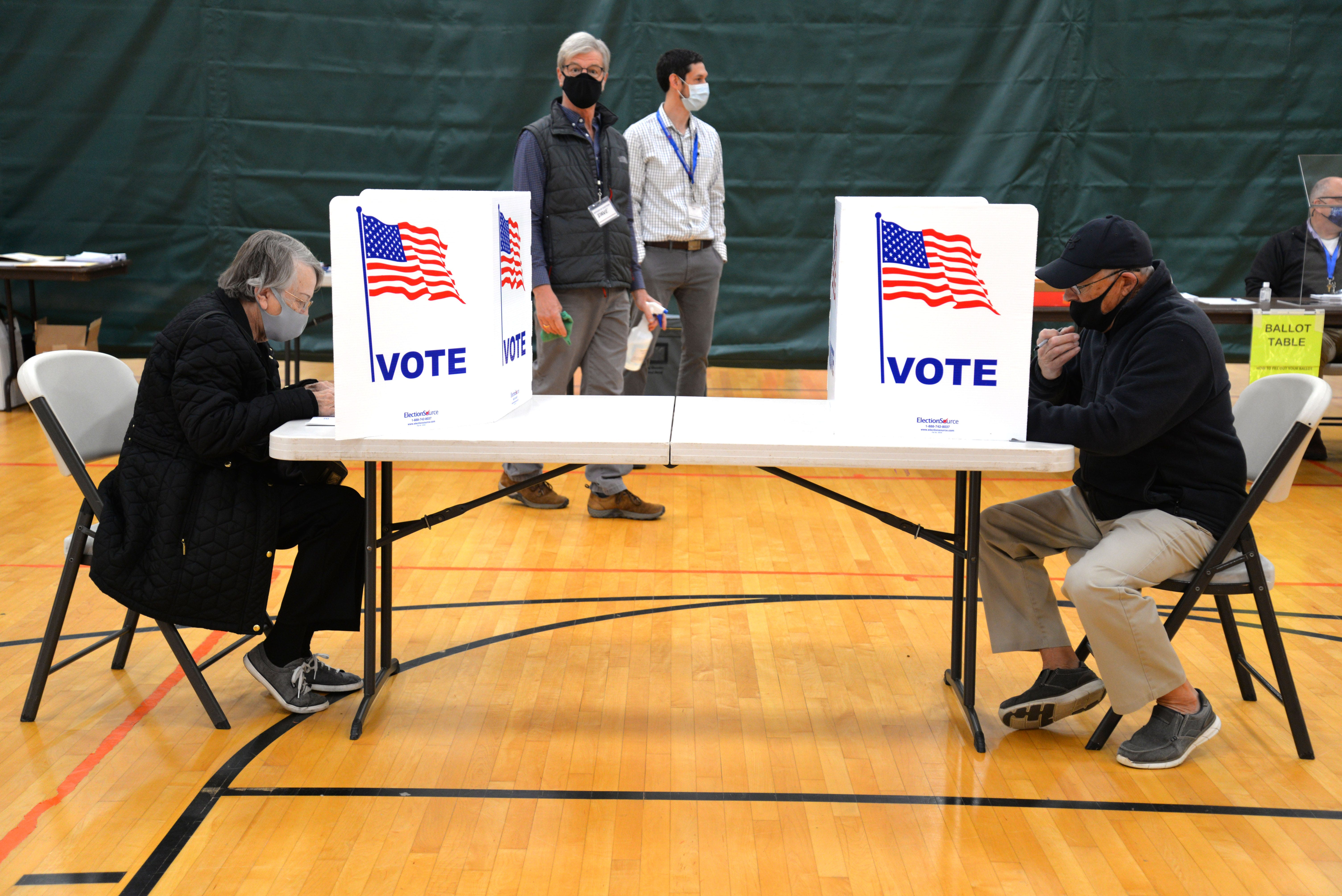 Voters in Ward 3 vote on Election Day on Nov. 3, 2020 at the Gypsy Hill Park Gym in Staunton.Dsc 9669